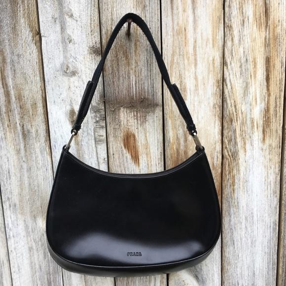 1b87132d09fb Prada Bags | Vintage Mini Hobo Bag Black Calfskin | Poshmark